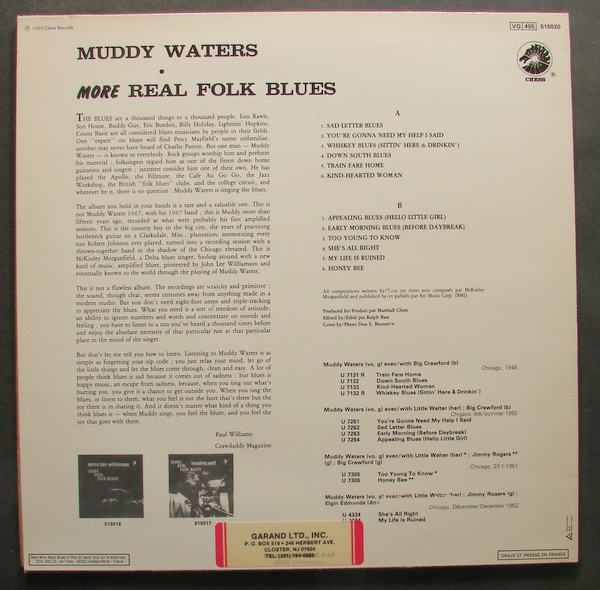 muddy waters more real folk blues french chess